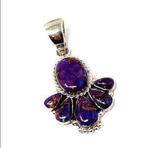 Jewelry - ♥️NEW LISTING♥️ Purple Turquoise Sterling Pendant